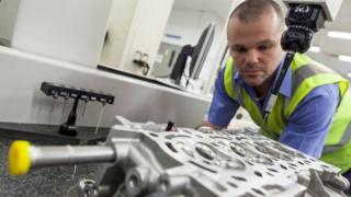 Worker at Toyota's Deeside factory