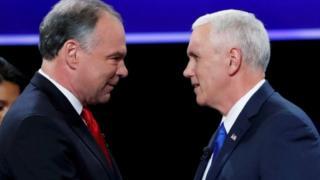 Los candidatos se encontraron en escena una hora y media después de la publicación del Partido Republicano.