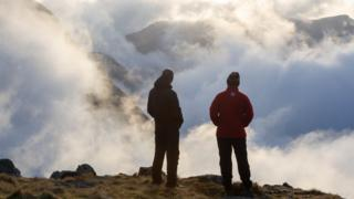 People atop Scafell Pike