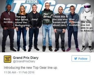 grandprixdiary: Introducing the new Top Gear line up.