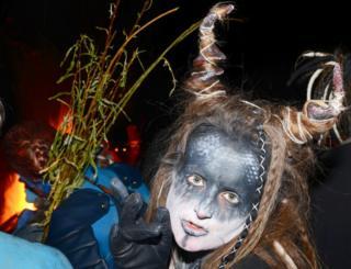 A face painted participant