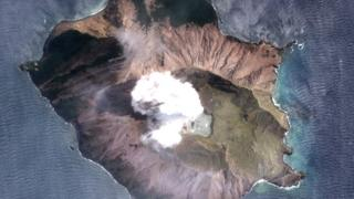 Satellite photo of volcano, 11 Dec published by DigitalGlobe, a Maxar company