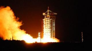 ดาวเทียมม่อจื๊อขึ้นสู่วงโคจรในอวกาศจากศูนย์ยิงปล่อยดาวเทียมทางตะวันตกเฉียงเหนือของจีน