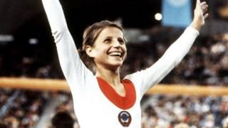 Olga Korbut a gasar Olympics ta Munich