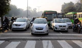 Delhi traffic on an odd-day