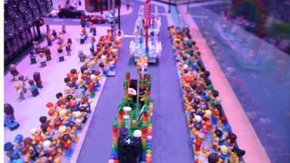 Lego model of Pride parade