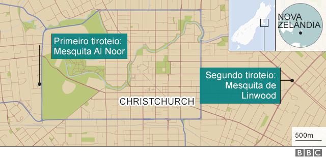 Mapa mostra onde foram os ataques a mesquitas