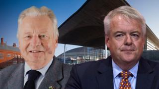 Lord Elis-Thomas and Carwyn Jones