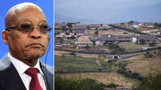 Guriga uu ku leehay miyiga Nkadla madaxweyne Zuma ee aadka loogu dhibay