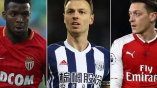 Thomas Lemar, Jonny Evans na Mesut Ozil