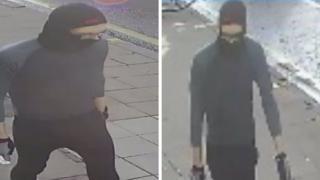 CCTV image of man wearing balaclava
