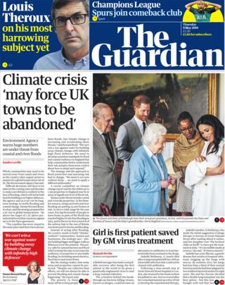 Guardian front page 09/05/19