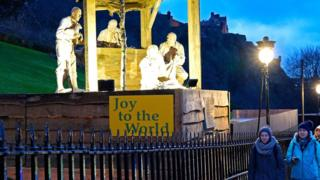 Nativity scene, The Mound, Edinburgh