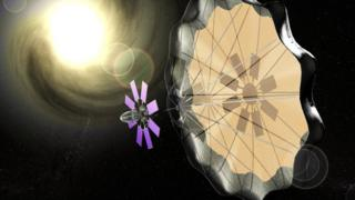 Spacecraft and solar sail - artist's impression