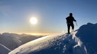Photo of climber on the Glencoe mountains Aviemore