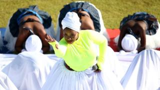 in_pictures Local dancers perform during the opening ceremony ahead of the ICC U19 Cricket World Cup Group