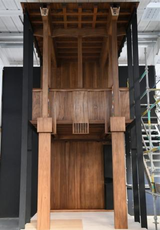The Glasgow School of Art full size prototype of a section of the Mackintosh Library returning it to the original 1910 design