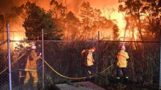 ماموران آتش نشانی در جنوب سیدنی