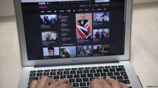 Person viewing BBC iPlayer on their laptop