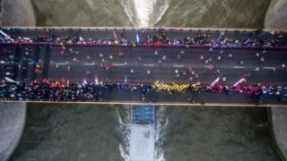 Лондонский марафон-2017: вид с высоты птичьего полета