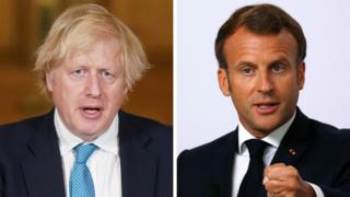 Prime Minister Boris Johnson and French President Emmanuel Macron