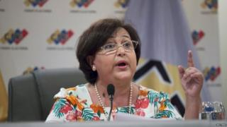 National Electoral Council President Tibisay Lucena speaks during a news conference in Caracas (22/06/2015)