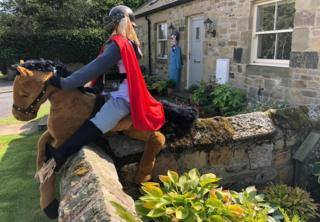 Horserider scarecrow