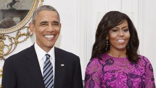 US President Barack Obama and First Lady Michelle.