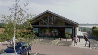 The Co-op in Long Hanborough was targeted at about 03:00 by at least two offenders in a Land Rover Defender