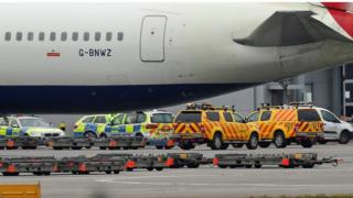Heathrow airfield death