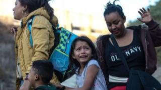 ABD sınırındaki göçmenler