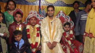 Gani Ansari and his Mit at his wedding
