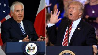 US President Donald Trump and Secretary of State Rex Tillerson