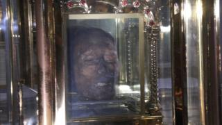 St Oliver Plunkett's head is on display at St Peter's church in Drogheda