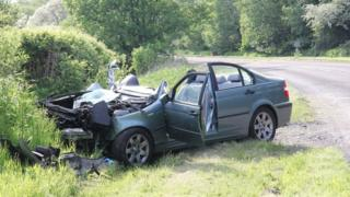 A713 crash