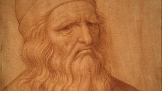 Leonardo da Vinci dibujado por Giovanni Ambrogio Figino