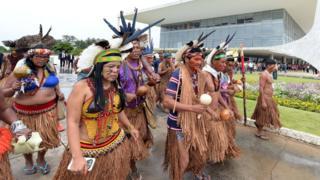 Акция индейцев