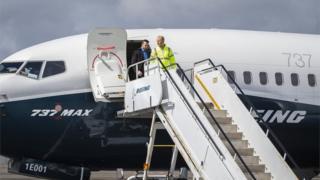 Dennis Muilenburg, PDG de Boeing, après un vol essayant un nouveau logiciel sur le 737 Max, 4 avril 2019