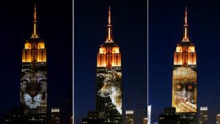 Images on Empire State Building