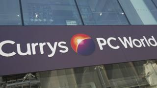 The front of a Currys PC World store