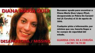 La Guardia Civil pidió colaboración ciudadana para la localización de Diana Quer. (Foto: Facebook)