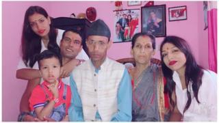 Nitu Karki, Balaram Dhakal e família