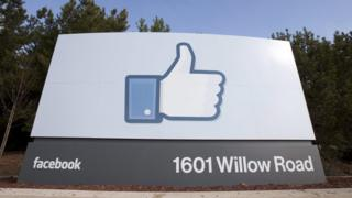 Facebook sign, California HQ