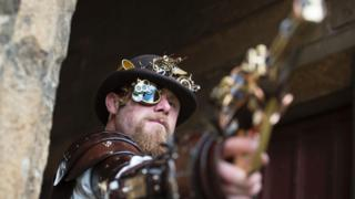Steampunk enthusiast at the festival in 2016