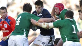 John Beattie's son, also called John, playing for Scotland in the Six Nations