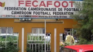 The headquarters of the Federation Camerounaise de Football (Fecafoot), or Cameroonian Football Federation, in Yaounde