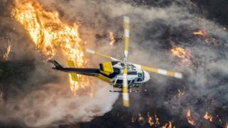 Incendio Skirball en California