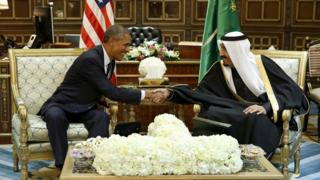 Perezida Obama n'umwami Salman bahura muri 2015