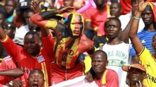 Mashabiki wa Uganda.