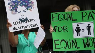 Equal pay rally.